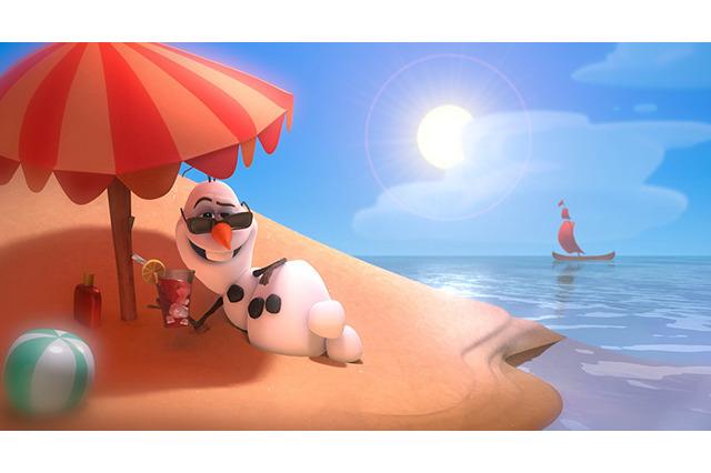夏に憧れるアナと雪の女王・オラフ