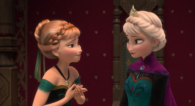 アナとエルサの2ショットのアナと雪の女王