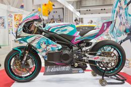 東京国際アニメフェアに初音ミク電動バイク TT零13 登場 画像