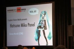 初音ミク英語版 米国アニメエキスポでも発表イベント 英語で活躍するボカロP登場に期待 画像
