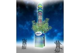pixiv発の巨大七夕飾り、六本木ヒルズに出現 イラスト数千枚を使用 画像