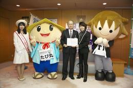 「イナズマロックフェス 2015」9月開催、西川貴教が滋賀県知事を表敬訪問 画像