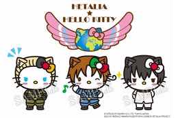 「ヘタリア TWT」とハローキティがコラボ イタリア・ドイツ・日本に扮したキティ登場