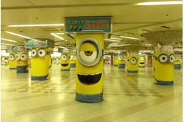 大阪駅前地下街に29のミニオン達 「ミニオンズ」Blu-ray&DVD発売記念