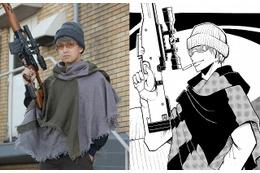 実写映画「暗殺教室~卒業編~」レッドアイ役に阿部力 ニット帽とライフル銃を身に着けた姿 画像