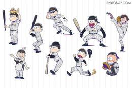 「おそ松さん×侍ジャパン」ビジュアル公開!コラボグッズも発売 画像