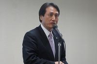 南沢道義さん。声優の仕事はビジネスを超えた国際交流が出来ると力説。