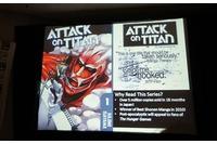 2012年サンディエゴ・コミコンでの『進撃の巨人』英語版の発刊の発表の時の様子。