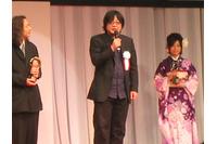 東京アニメアワード受賞式の細田守監督