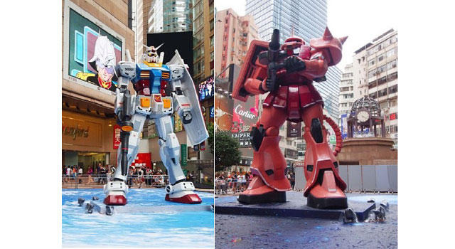 「GUNDAM DOCKS AT HONG KONG」