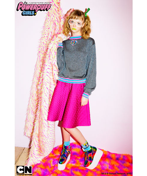 「THE POWERPUFF GIRLS LAME KNIT」13,800円(税抜)TM&(c)Cartoon Network.(s17)