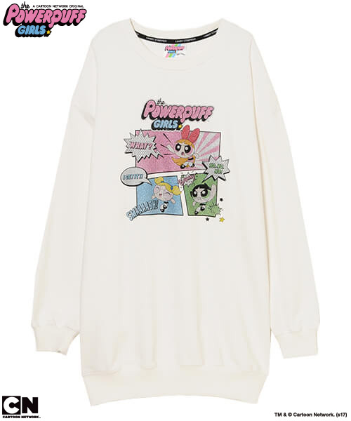 「THE POWERPUFF GIRLS COMIC SWEAT ONE-PIECE」11,800円(税抜)TM&(c)Cartoon Network.(s17)