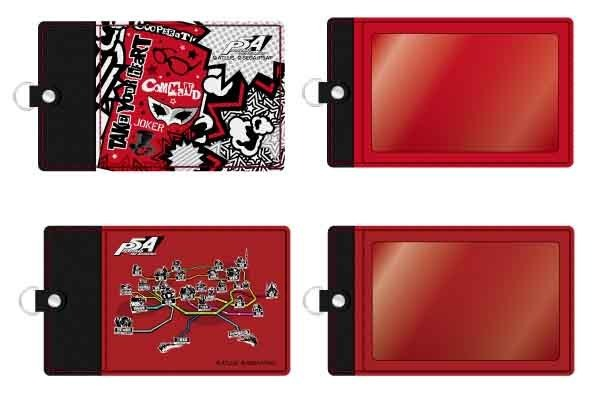「セガコラボカフェ PERSONA5 the Animation」合皮パスケース(全2種) 各1,800円(税込) (C)ATLUS (C)SEGA/PERSONA5 the Animation Project (C)SEGA