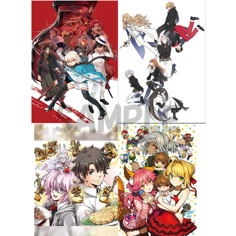 「Fate」シリーズ クリアファイルセット2020 1,818円(税別)(C)TYPE-MOON(C) TYPE-MOON / FGO PROJECT(C)TYPE-MOON/経験値(C)Nitroplus/TYPE-MOON・ufotable・FZPC(C)TYPE-MOON・ufotable・FSNPC