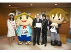 「イナズマロックフェス 2015」9月開催、西川貴教が滋賀県知事を表敬訪問