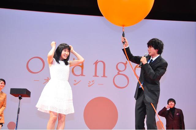 土屋太鳳、山崎賢人/『orange,オレンジ,』完成披露試写