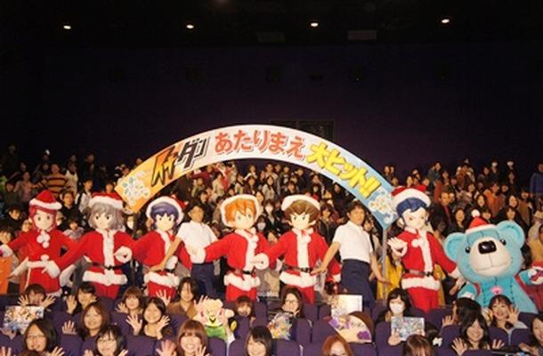 満員の劇場で挨拶