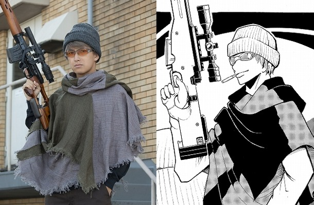 実写映画「暗殺教室~卒業編~」レッドアイ役に阿部力 ニット帽とライフル銃を身に着けた姿