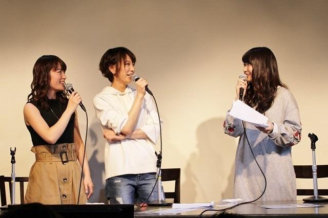 左から小松未可子さん、安済知佳さん、今村彩夏さん