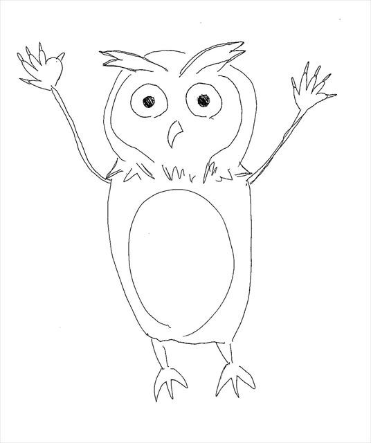 フクロウの獣人(イラスト:原田さん)