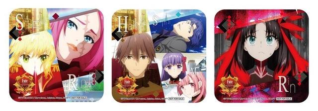 「セガコラボカフェ Fate/EXTRA Last Encore」デザートメニュー特典(全3種)(C)TYPE-MOON / Marvelous, Aniplex, Notes, SHAFT  (C)SEGA