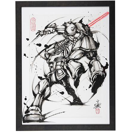 「武人画×機動戦士ガンダム」覚醒の一閃200,000円(+税)(C)創通・サンライズ