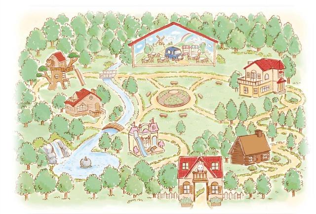 「シルバニアパーク」園内マップ (C) EPOCH