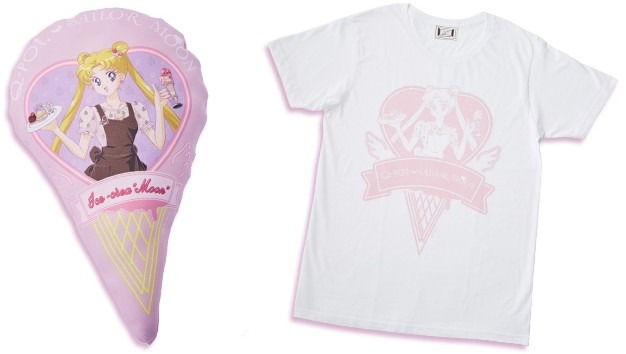 左)ミニクッション、 右)Tシャツ(C) T・P・T (C)Naoko Takeuchi (C) Gramme Co.