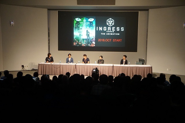 左から太田亮氏、ジョン・ハンケ氏、櫻木優雄平監督、石井朋彦プロデューサー
