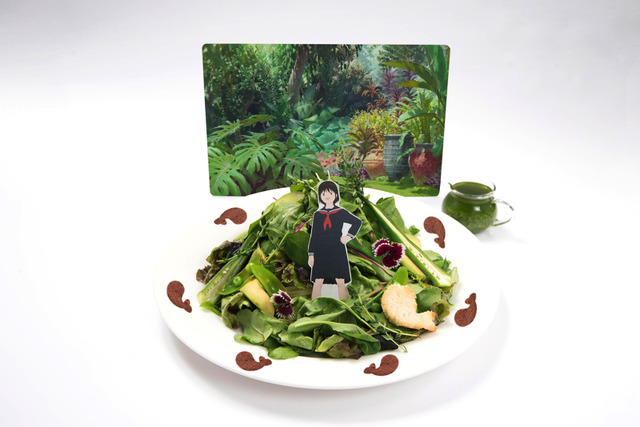 「未来のミライカフェ」ミライちゃんの植物園サラダパスタ 1,290円(C)2006 TK/FP (C)2009 SW F.P. (C)2012 W.C.F.P (C)2015 B.B.F.P(C)2018 CHIZU