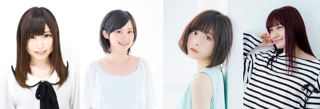 翔子役・鈴木愛奈、響子役・ M・A・O、沙織役・水瀬いのり、 美衣役・中島愛