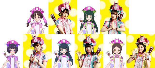 わーすた キャラクター設定画 (C) T-ARTS / syn Sophia / テレビ東京 / PCH製作委員会