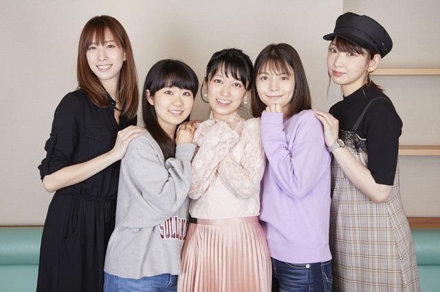 TVアニメ『あかねさす少女』アフレコ集合写真(C)Akanesasu Anime Project