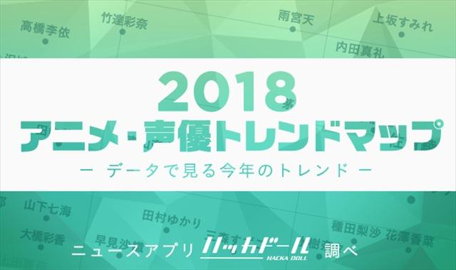 「2018年アニメ・声優トレンドマップ」