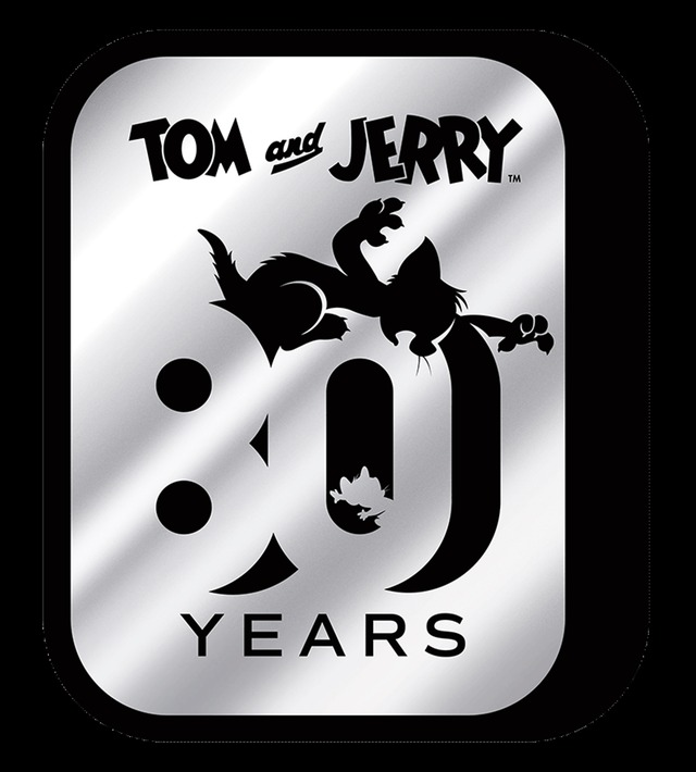 『トムとジェリー』80 周年記念ロゴ TOM AND JERRY and all related characters and elements (C)& TM Turner Entertainment Co. (s19)