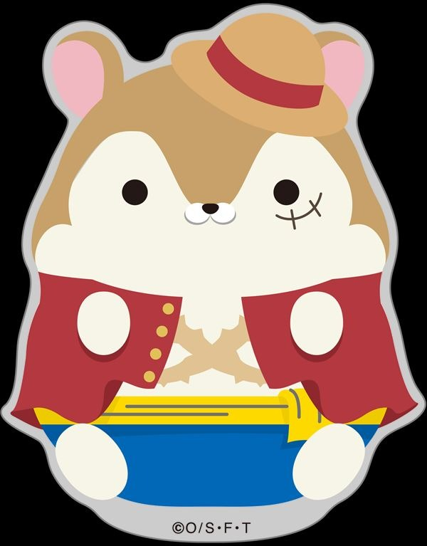 『ワンピース』もちもちハムスターコレクション トレーディングアクリルバッジ[全7種] 500円