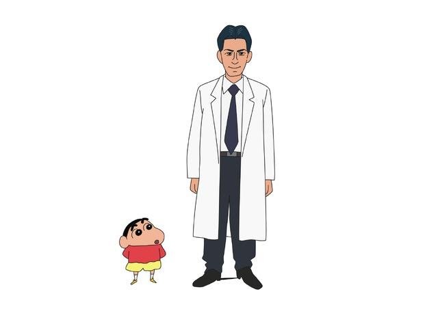 「『クレヨンしんちゃん』財前准教授」(C)臼井儀人/双葉社・シンエイ・テレビ朝日・ADK