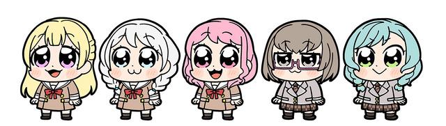 「大川ぶくぶ×BanG Dream!」Pastel*Palettes(C)BanG Dream! Project (C)Craft Egg Inc. (C)bushiroad All Rights Reserved.