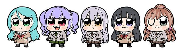 「大川ぶくぶ×BanG Dream!」Roselia(C)BanG Dream! Project (C)Craft Egg Inc. (C)bushiroad All Rights Reserved.
