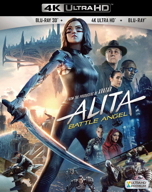 『アリータ:バトル・エンジェル <4K ULTRA HD+3D+2Dブルーレイ/3枚組>』ジャケット写真 (C)2019 Twentieth Century Fox Home Entertainment LLC. All Rights Reserved.