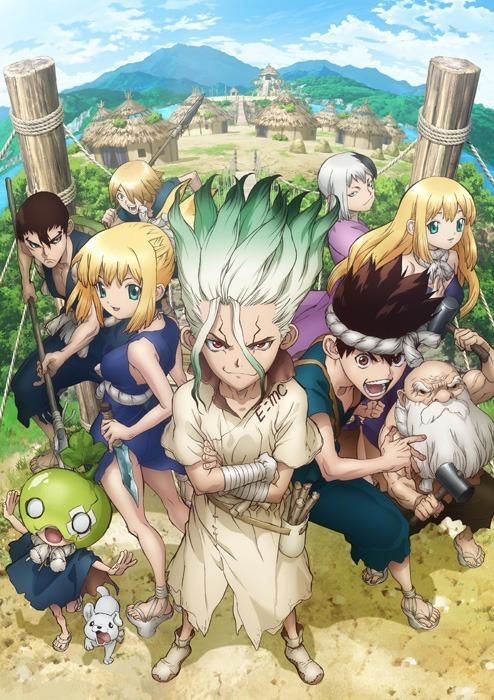 TVアニメ『Dr.STONE』キービジュアル2(C)米スタジオ・Boichi/集英社・Dr.STONE製作委員会