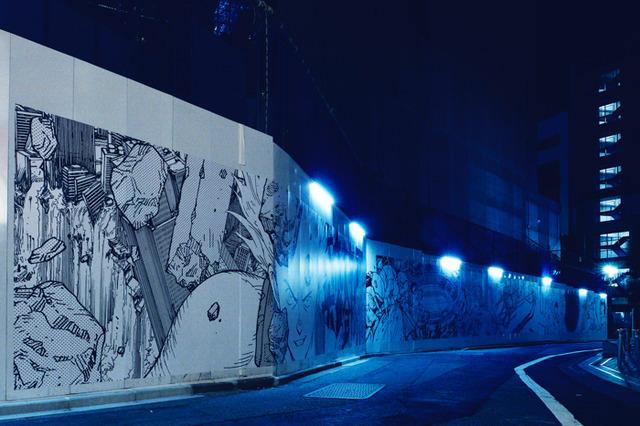 「AKIRA ART OF WALL Katsuhiro Otomo × Kosuke Kawamura AKIRA ART EXHIBITION」ART WALL(C)MASH・ROOM/KODANSHA (C)Kosuke Kawamura (C)AKIRA ART OF WALL EXHIBITION