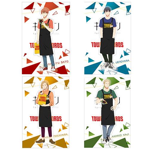 「TOWERanime presents『ギヴン × TOWER RECORDS』POP UP SHOP」ギヴン × TOWER RECORDS アクリルスタンド(全4種)1,200円(税別)(C)キヅナツキ・新書館/ギヴン製作委員会