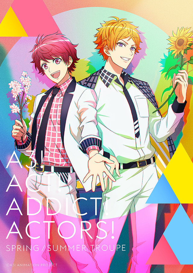 TVアニメ『A3!』SEASON SPRING & SUMMERのキービジュアル(C)Liber Entertainment Inc. All Rights Reserved.