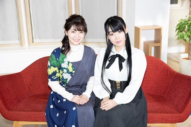 左)美墨なぎさ/キュアブラック役:本名陽子、右)雪城ほのか/キュアホワイト役:ゆかな