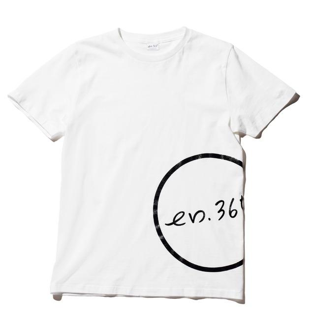 「en.365° エンサンビャクロクジュウゴド」T-shirt (Flank/WHITE)  S/M/L ¥3,500(in tax)