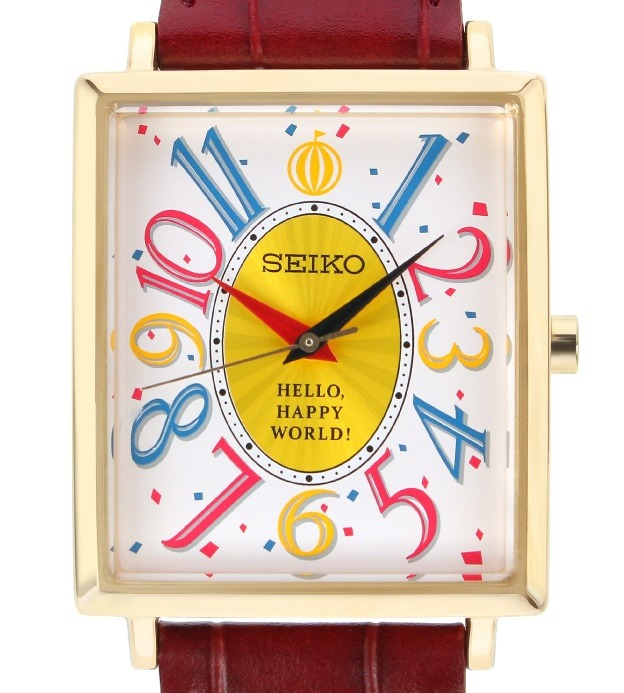 """Bundle! Girls Band Party! X Seiko Collaboration Watch Hello, Happy World! Model"" 34,800 yen (excluding tax) (C) BanG Dream! Project (C) Craft Egg Inc. (C) bushiroad All Rights Reserved."