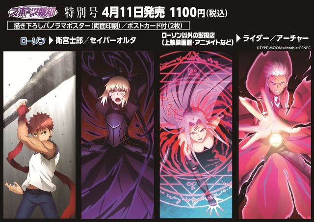 『劇場版「Fate/stay night [Heaven's Feel]」III.spring song』スポーツ報知特別号」(C)TYPE-MOON・ufotable・FSNPC