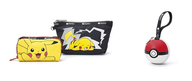 「Special Pouch」左:レクタングラー コスメティック 4,600円(税抜)中:ミディアム スローン コスメティック 4,800円(税抜)右:モンスターボール リストレット 8,500円(税抜)(C)2020 Pokemon. TM, (R) Nintendo.