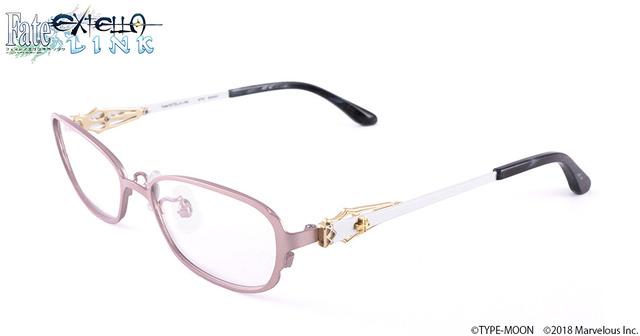 「「Fate/EXTELLA LINK」コラボレーション眼鏡」各15,400円(税抜)(C)TYPE-MOON (C)2018 Marvelous Inc.
